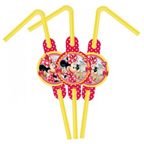 Minnie Mouse Parti Malzemeleri Pipet 6 adet